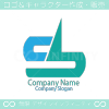 S文字と矢と上昇のシンボルマークのロゴマークデザインです。