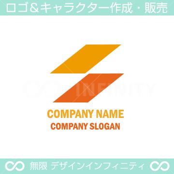 S文字のシンプルなロゴマークデザインです。
