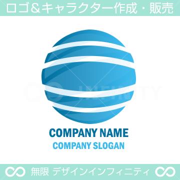 地球,水,グローバルのシンボルマークのロゴマークデザインです。