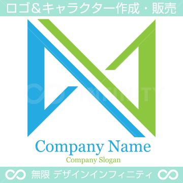 N文字,インフィニティーのロゴマークデザインです。