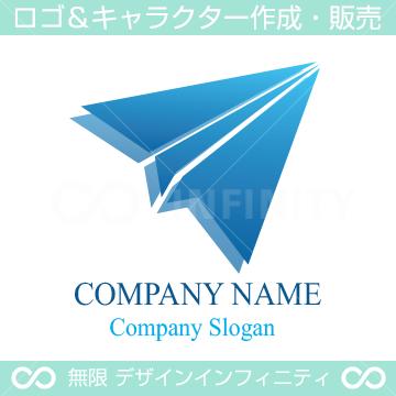 紙飛行機,幸せ,上昇をイメージしたロゴマークデザインです。