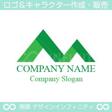 山,マウンテン,アルファベットMをイメージしたロゴマークデザイン