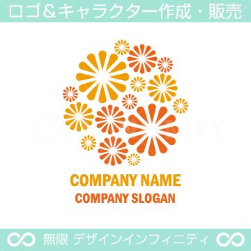 花,フラワー,花火,花束をイメージしたロゴマークデザインです。
