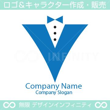 V文字、男性をイメージしたロゴマークデザインです。