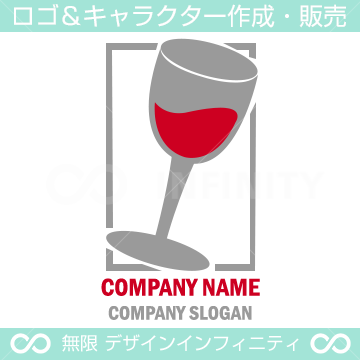 ワイン,グラス,バー,飲食店のロゴマークデザインです。