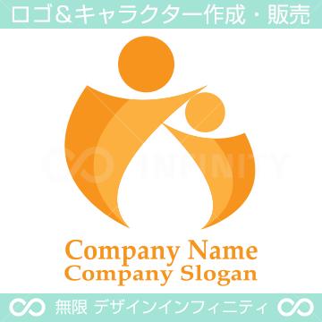 親子,I文字をイメージしたロゴマークデザインです。