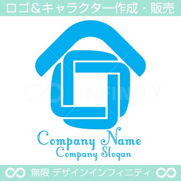 家,∞,インフィニティをイメージしたロゴマークデザインです。