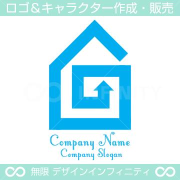 住宅,旋回をイメージしたロゴマークデザインです。