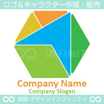 パズル, 六角形, カラフルなロゴ