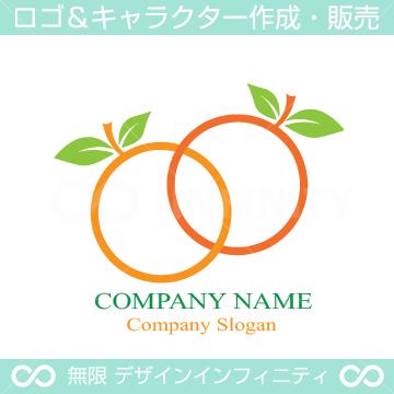 オレンジ、果物、無限大をイメージしたロゴマーク