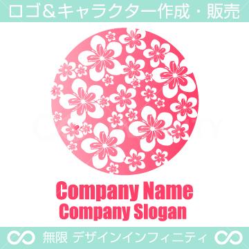 満開の桜が楽しいロゴマーク